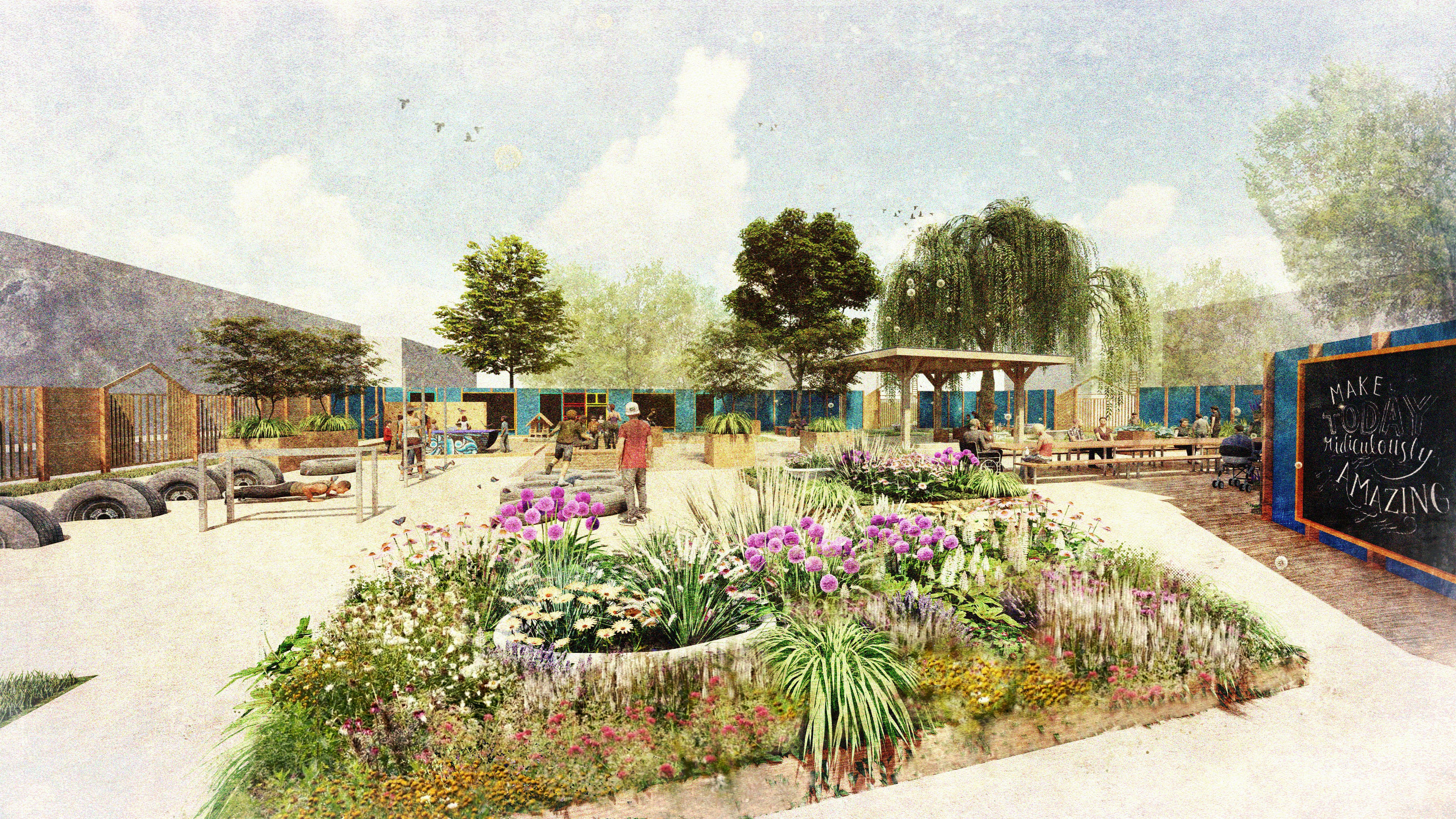 Artists' impression of the park