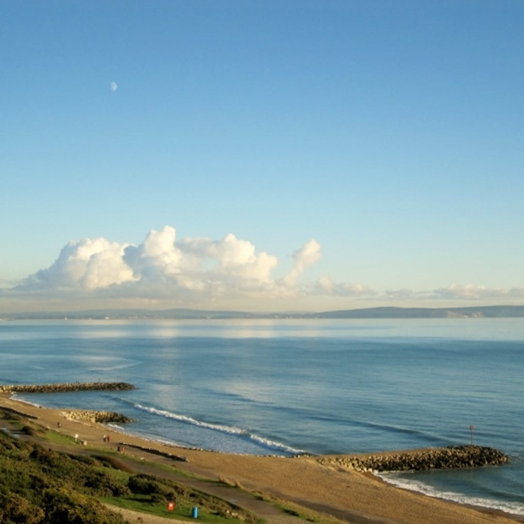 View to the east from Highcliffe Beach