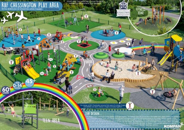 RAF Chessington Playground final design