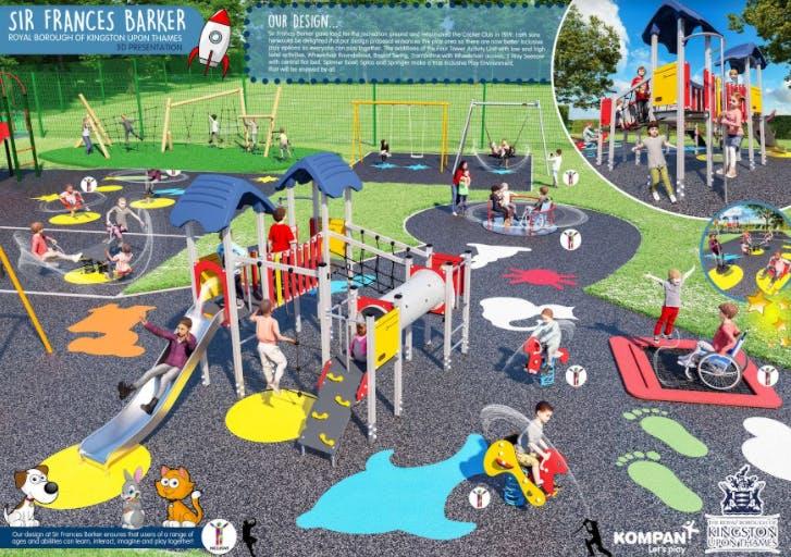 Sir Francis Barker playground final design