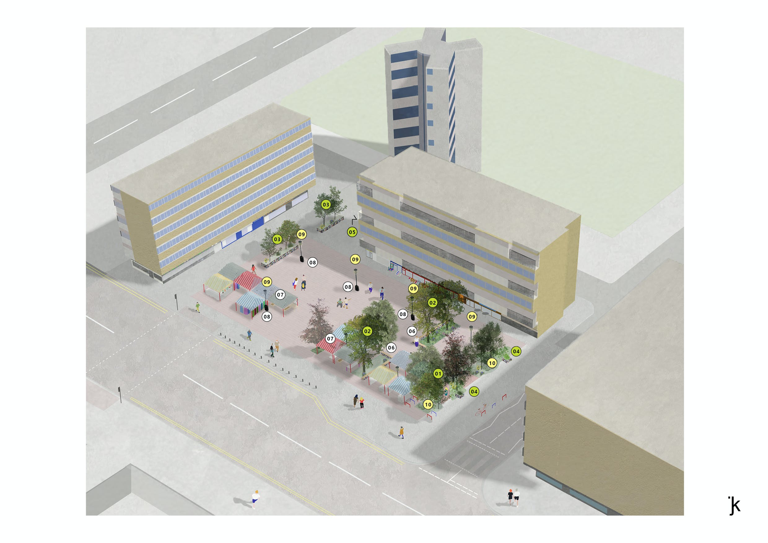 market square proposal : market day