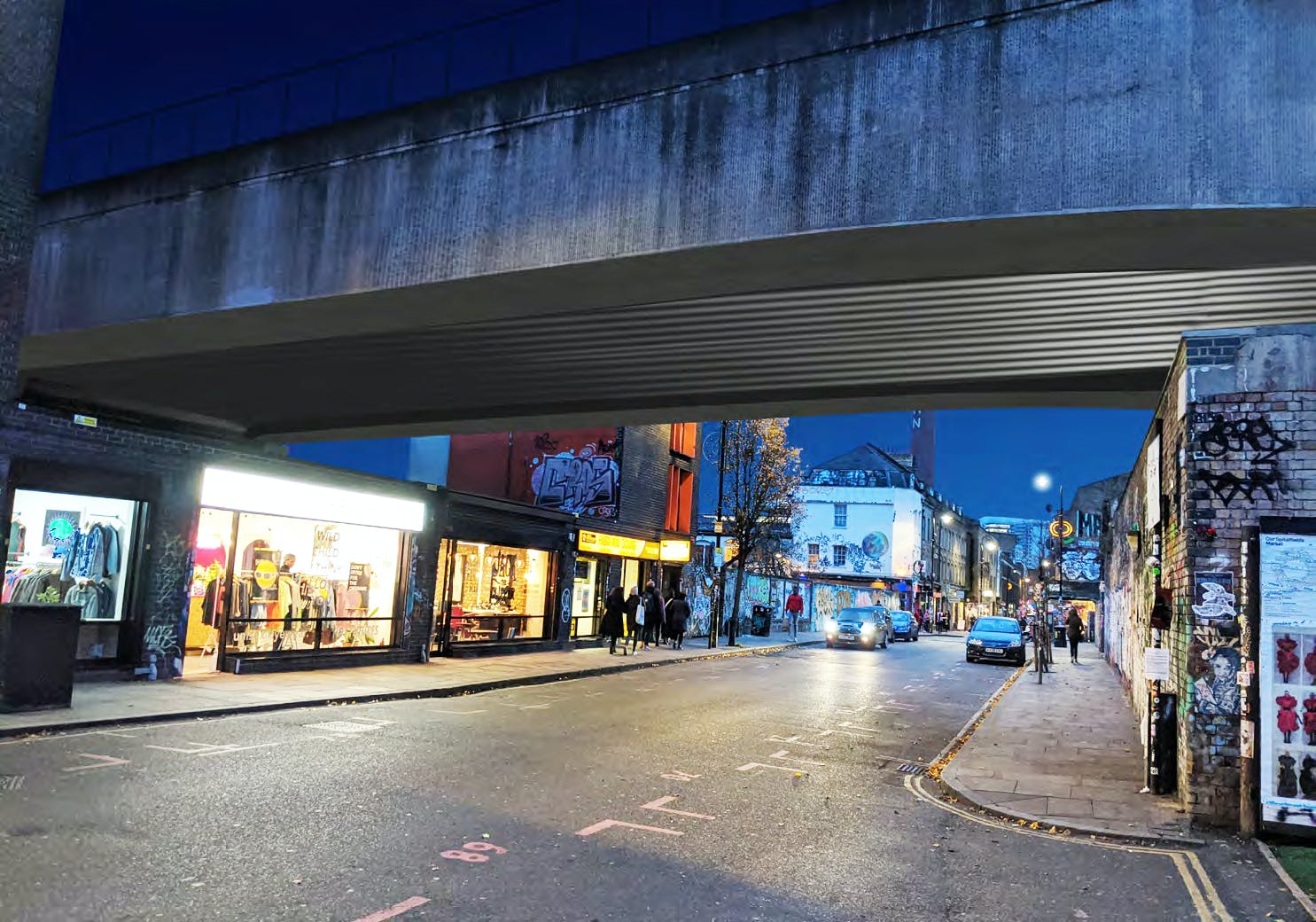 Improved lighting around the Overground bridge could enhance safety and improve the look of the area