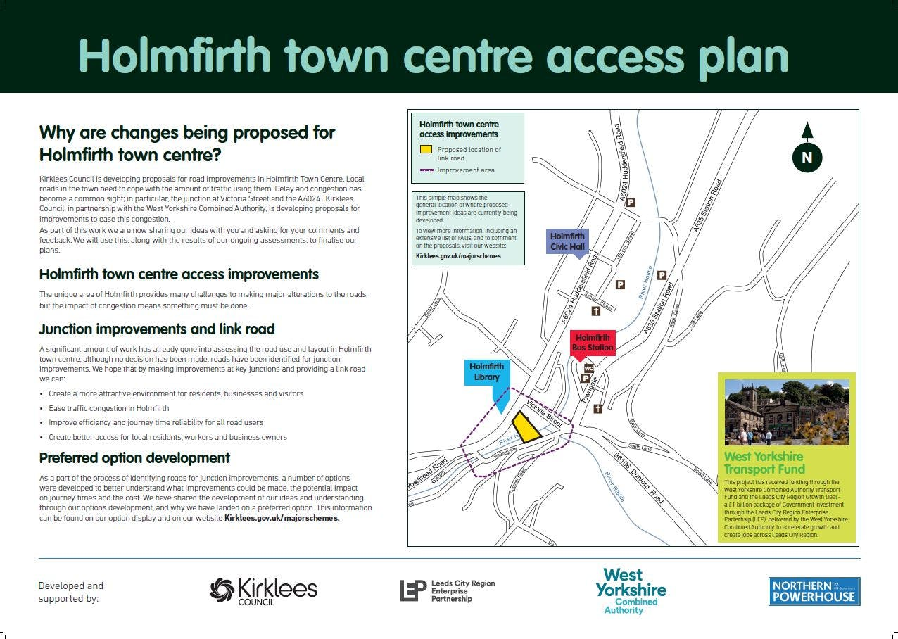 Holmfirth Town Centre Access Plan - overview