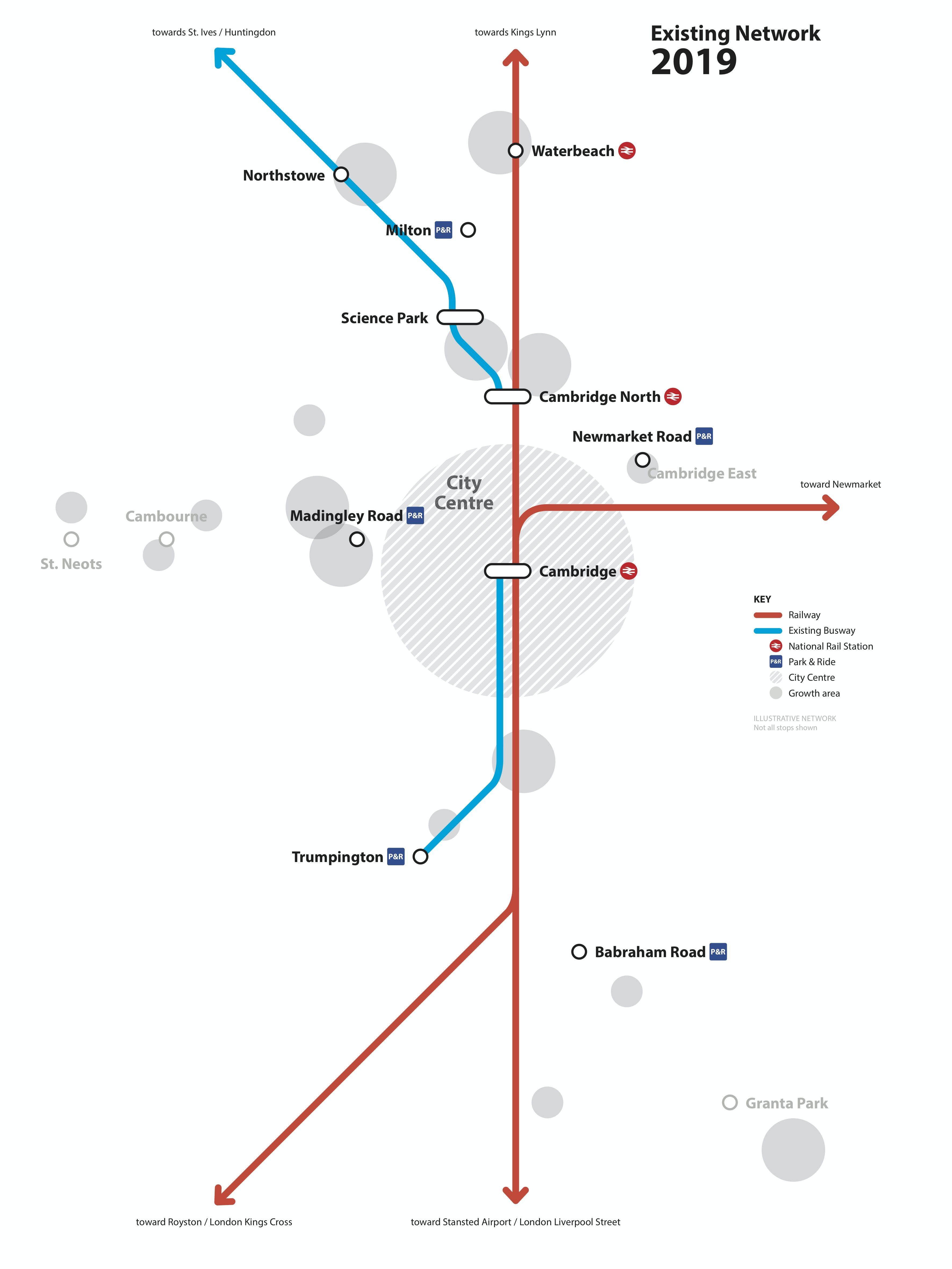 Existing GCP Network 2019 Transport Map