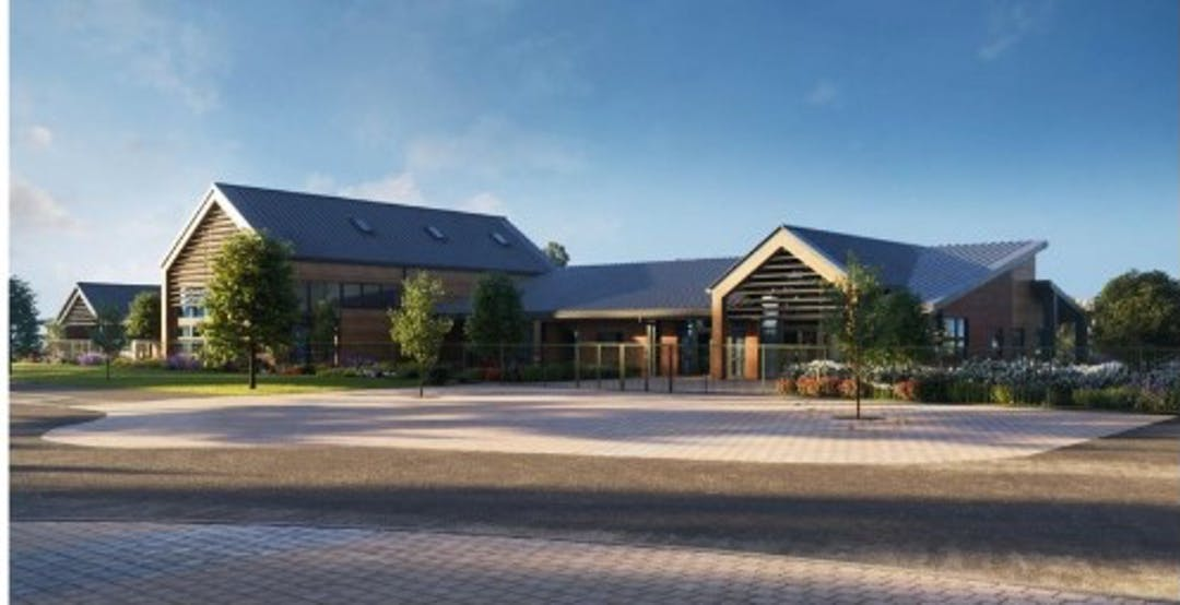 Image of a recently completed primary school, supplied courtesy of Thakeham Homes.