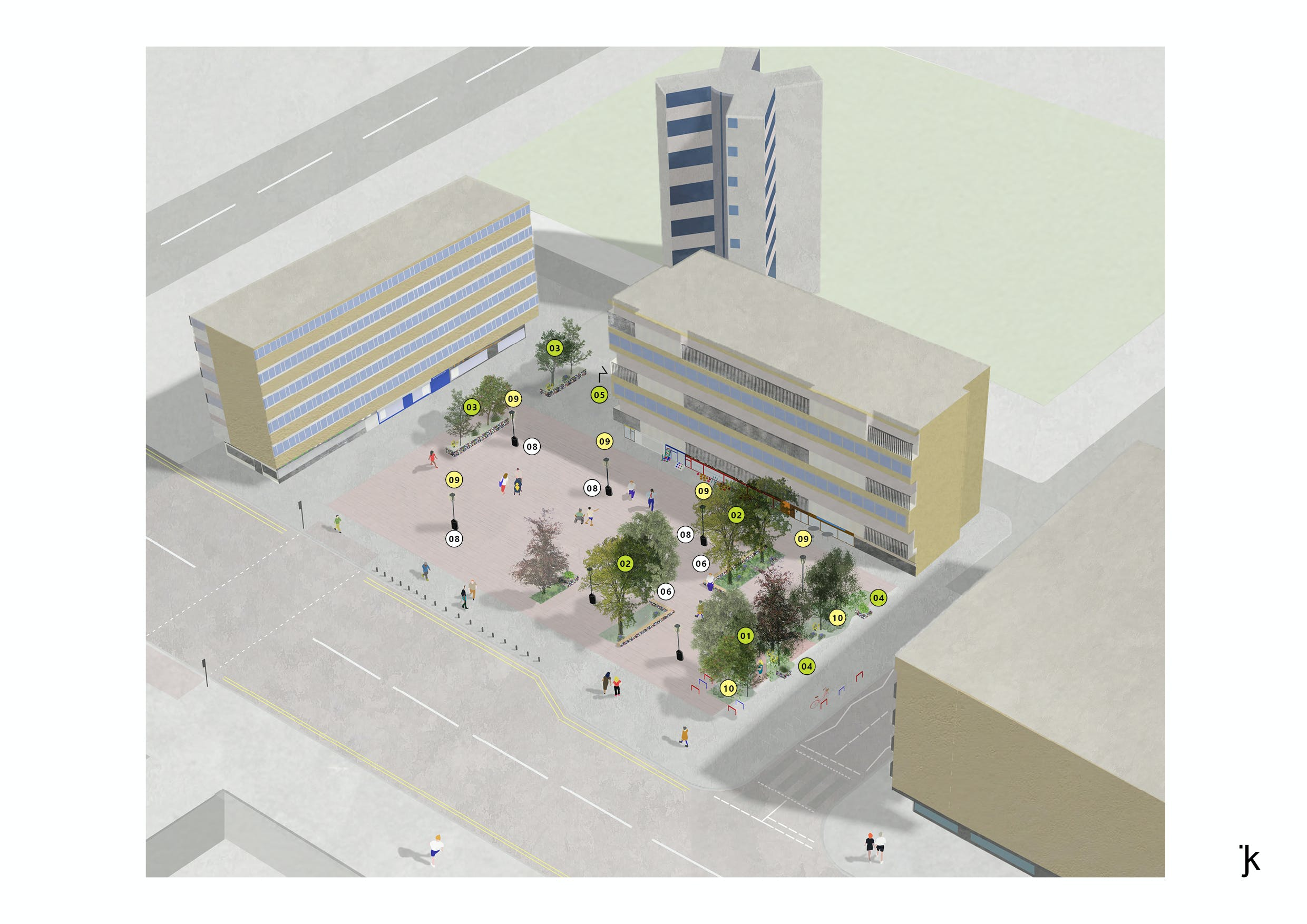 market square proposal : non market day