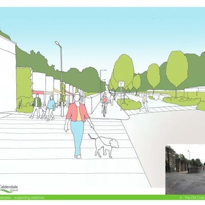 Artists Impression of the Old Coal Drops and Station Road