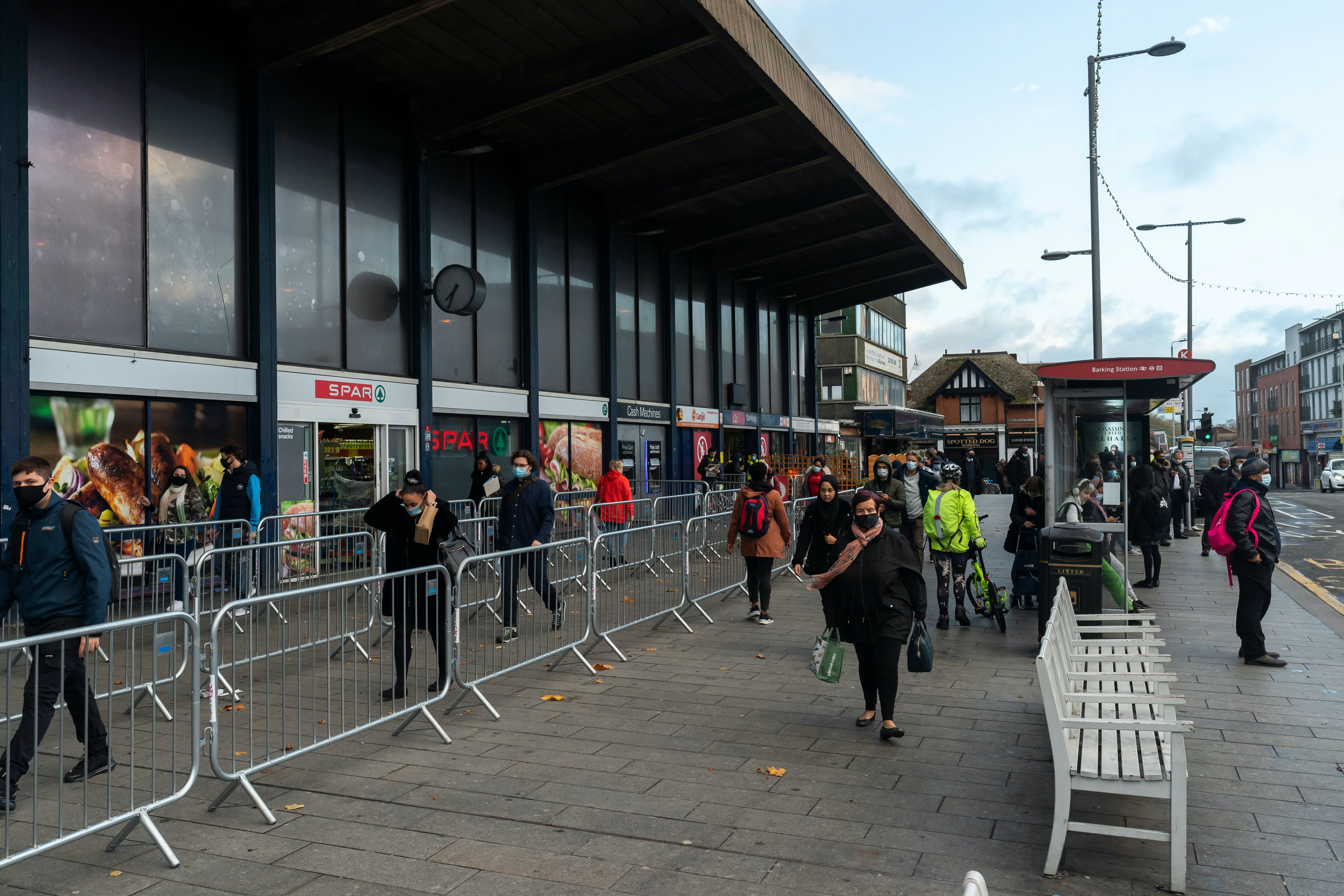 The barriers increase crowding on the station forecourt