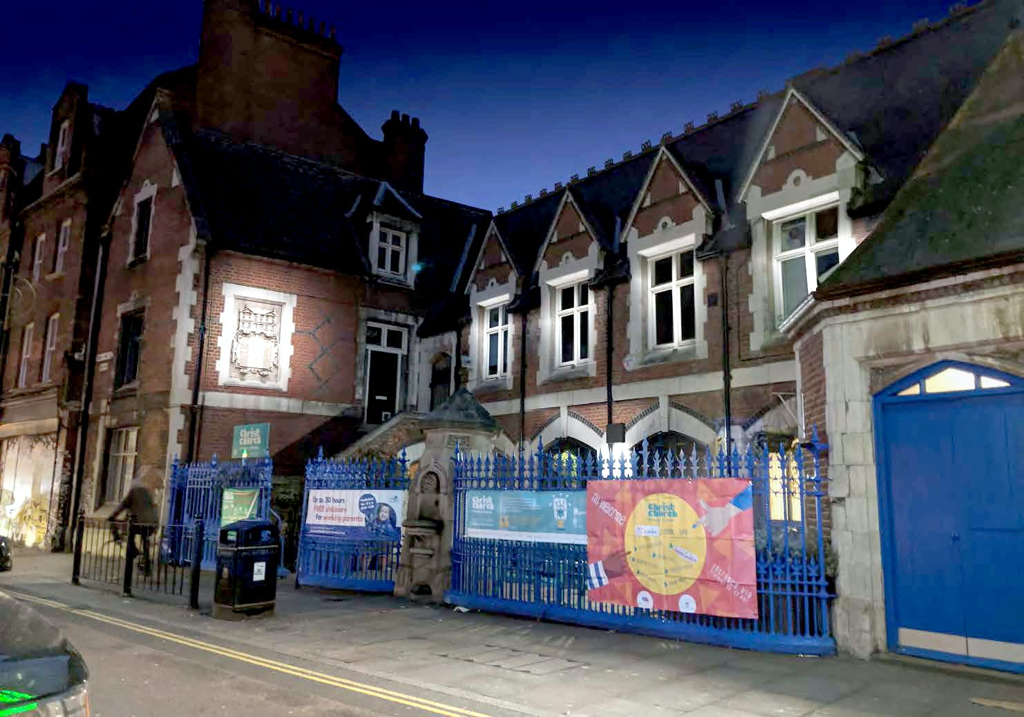 Enhanced lighting could highlight historic buildings like Christ Church C of E Primary School