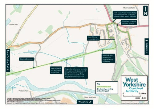Castleford Greenway Map