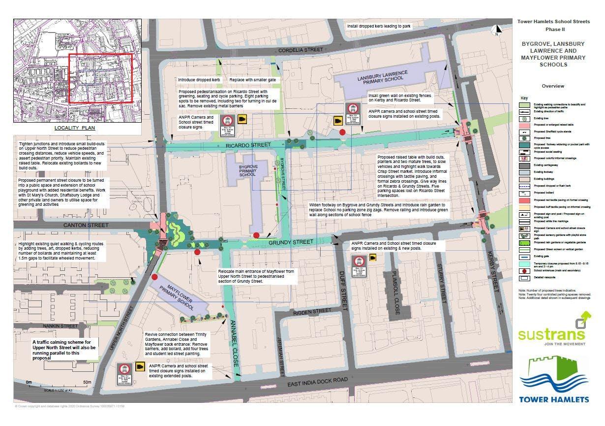 Bygrove, Lansbury Lawrence, Mayflower PS Plan 1