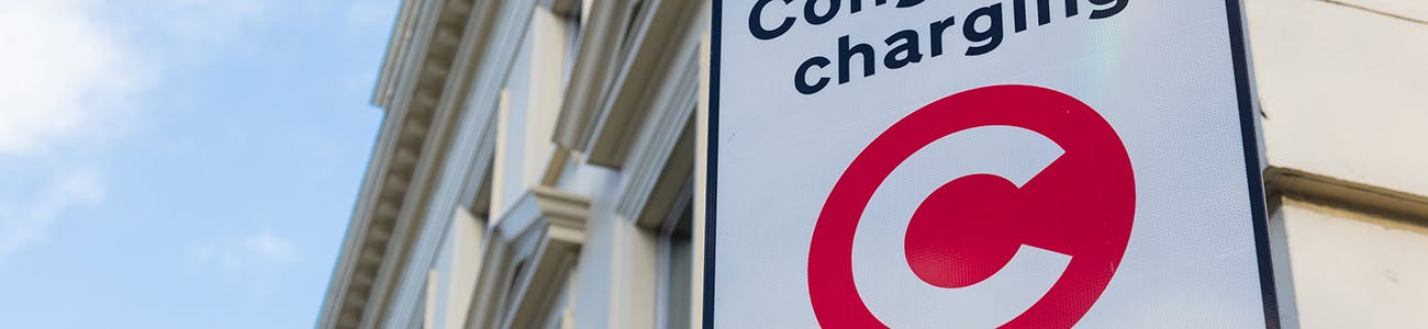 Congestion Charge zone sign