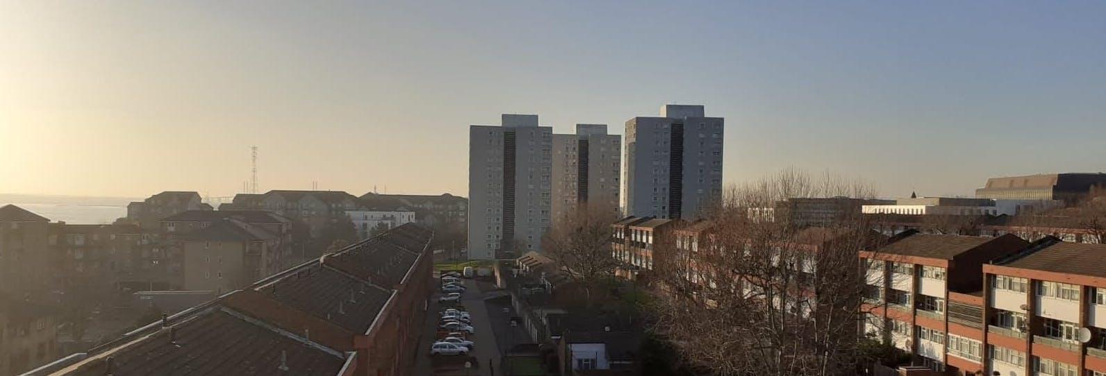 High Rise Tower Blocks in Grays, Essex