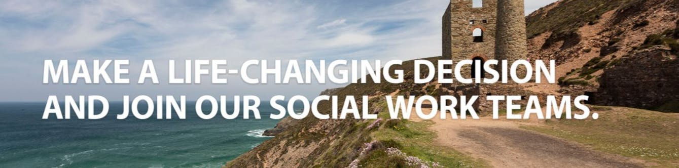Make a live-changing decision and join our social work teams