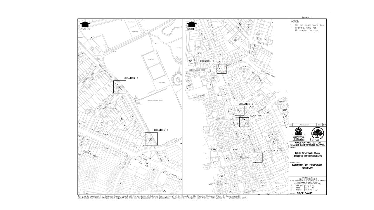 King Charles Rd - locations plan