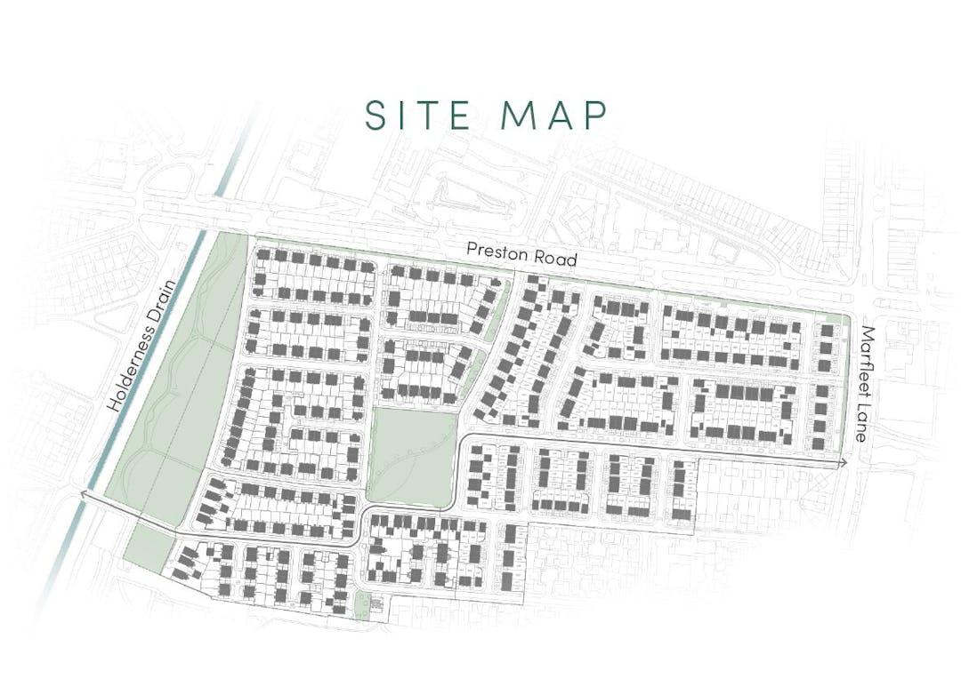 Preston Road Site Map