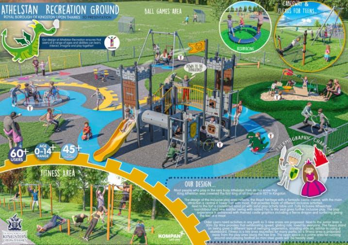 Athelestan Recreation Ground playground final design