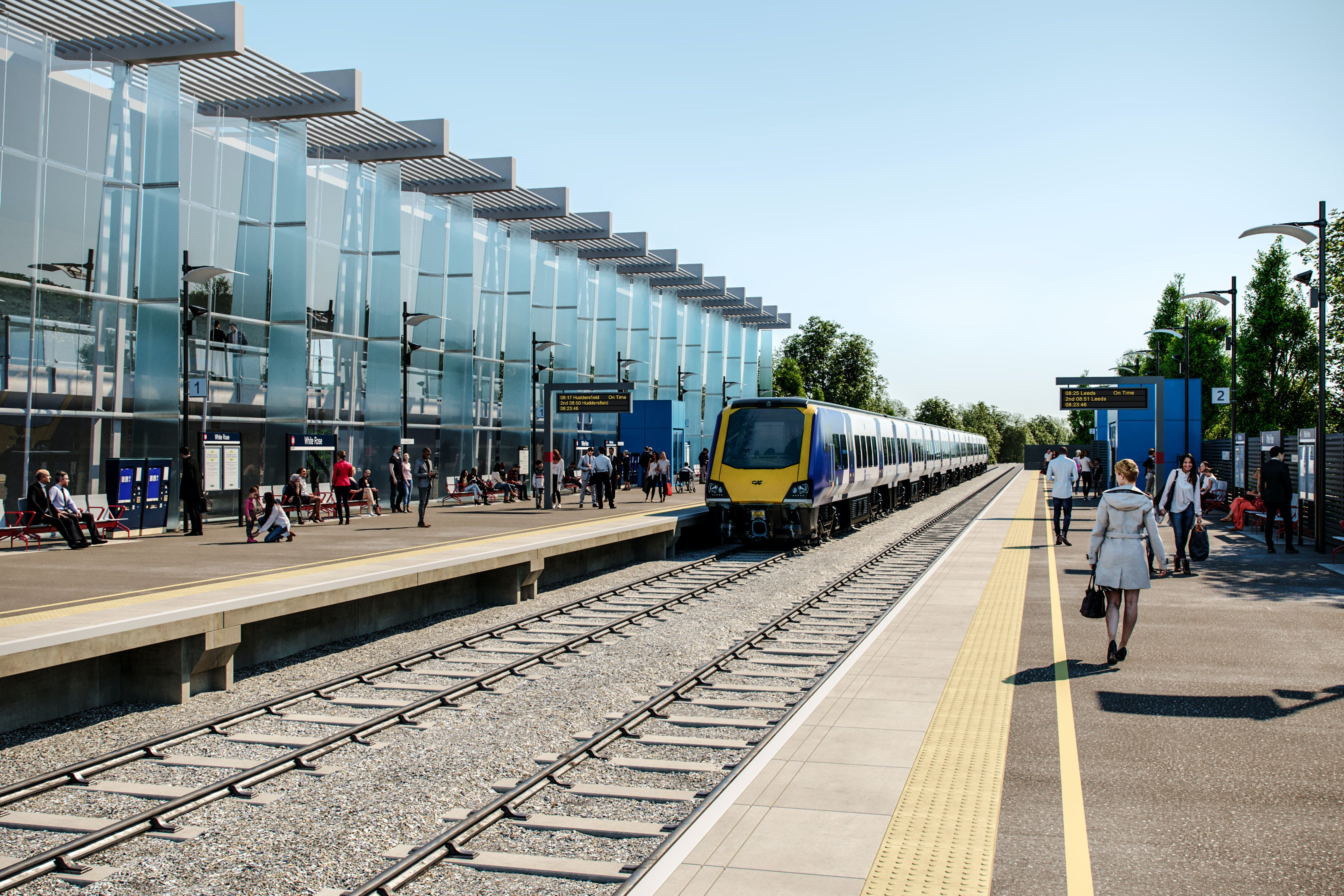 White Rose rail station platforms