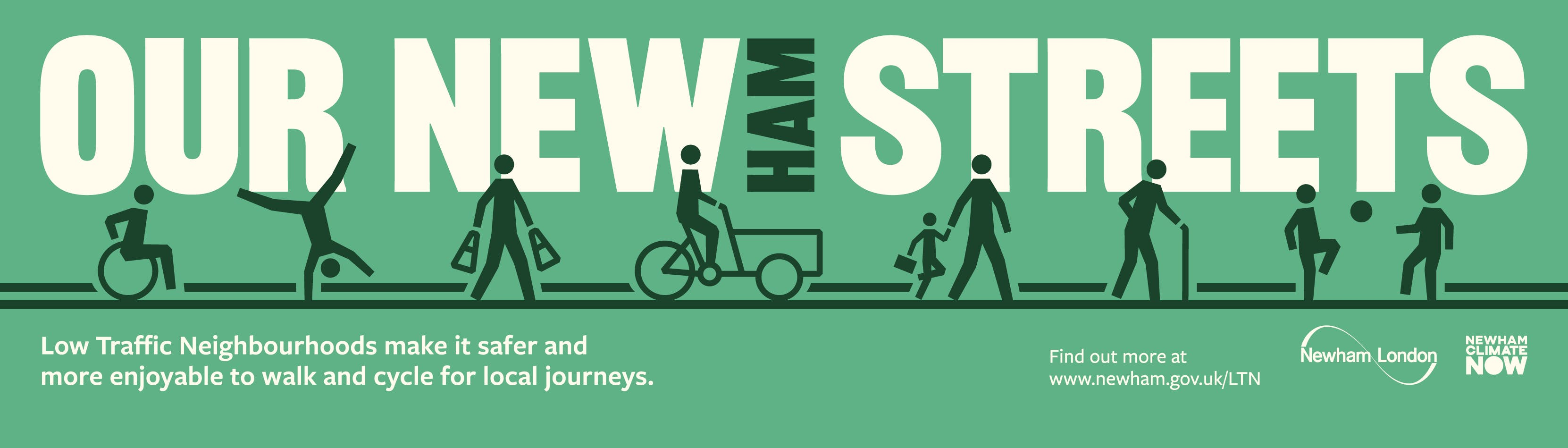 Newham low traffic neighbourhoods web page banner image