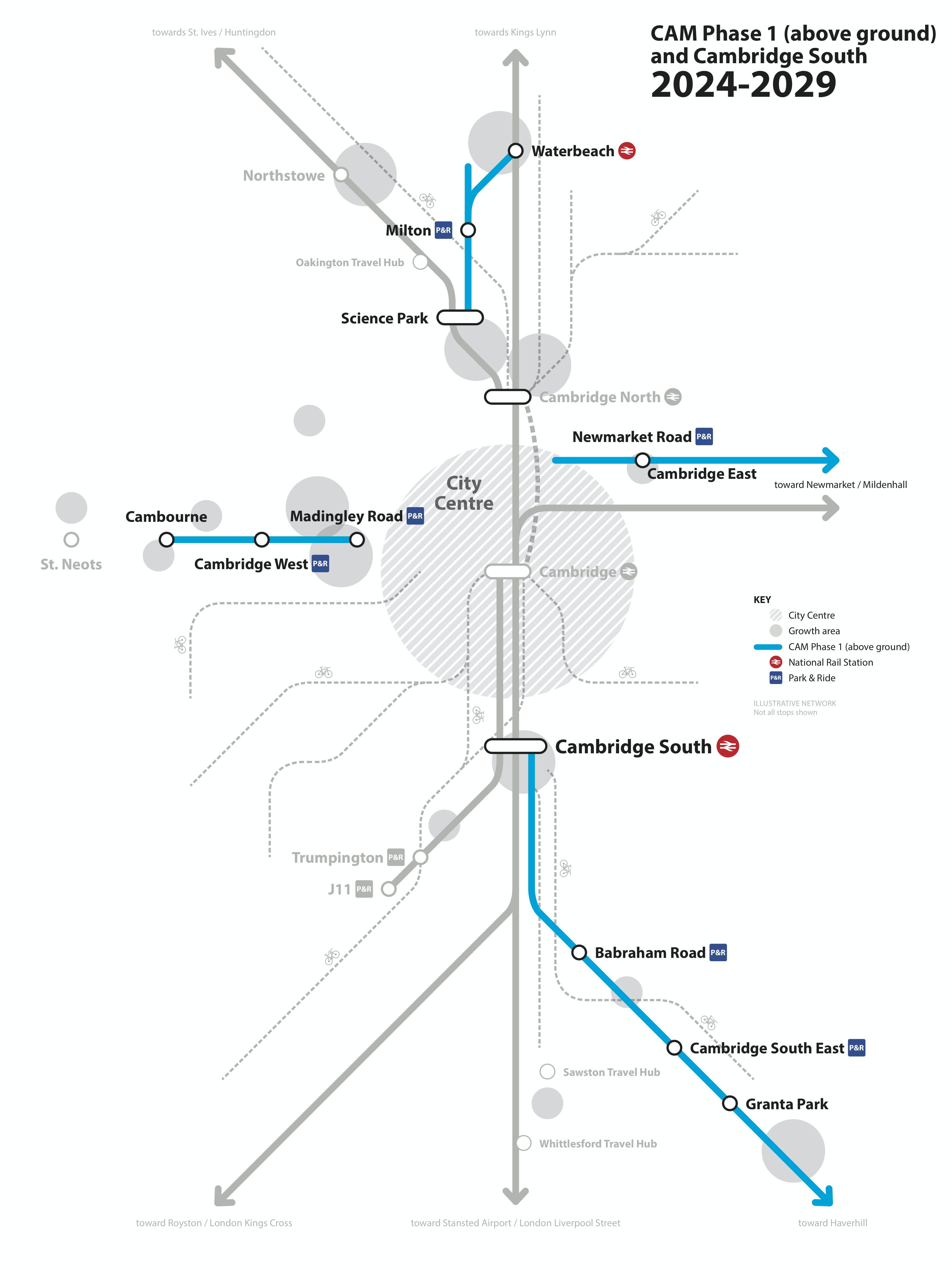 Cambridgeshire Autonomous Metro (Phase 1) 2024-2029