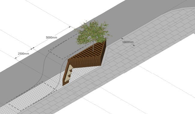 Planters could offer seating to visitors