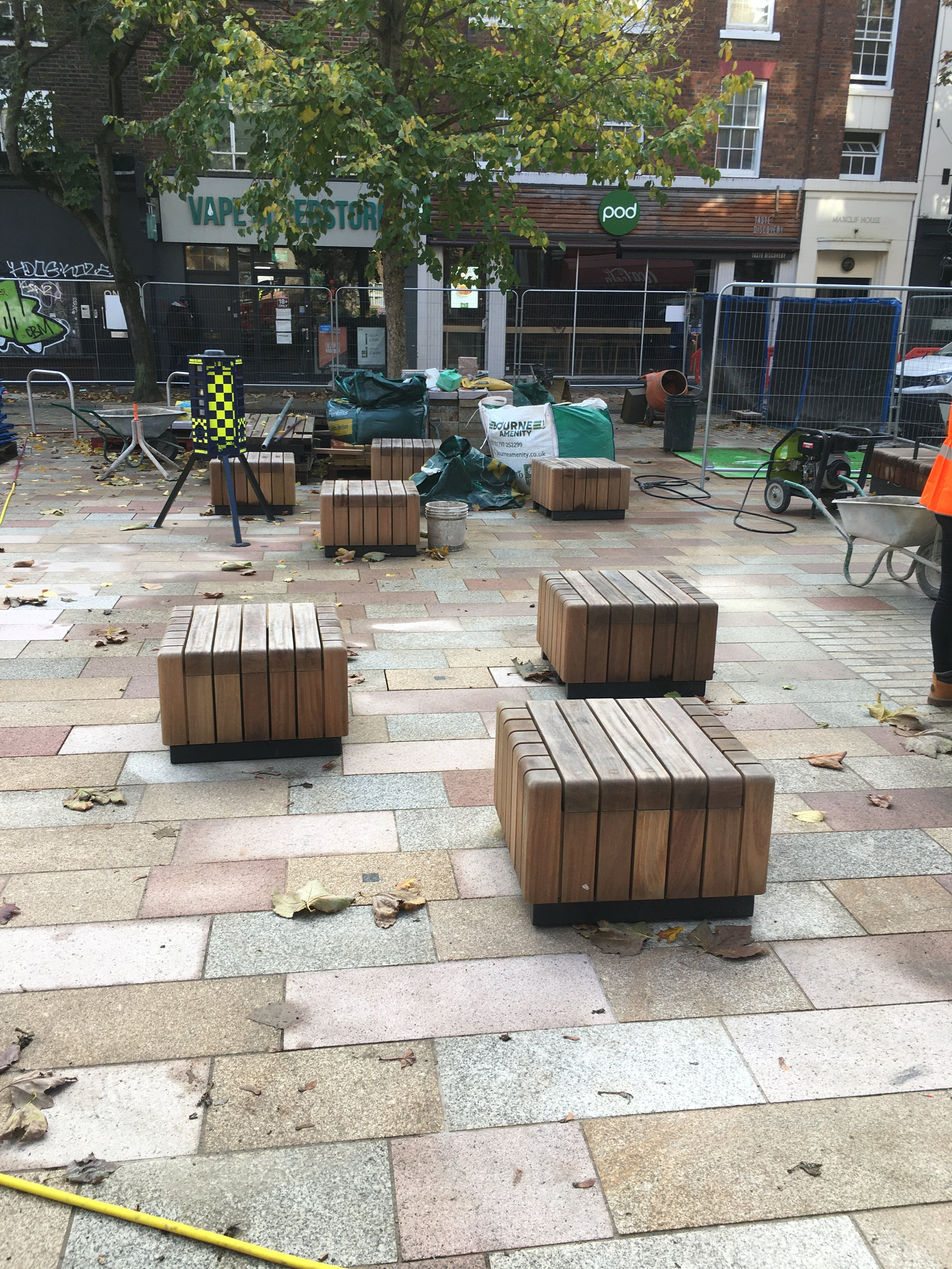 Whitfield Gardens - Moveable Cube Seats