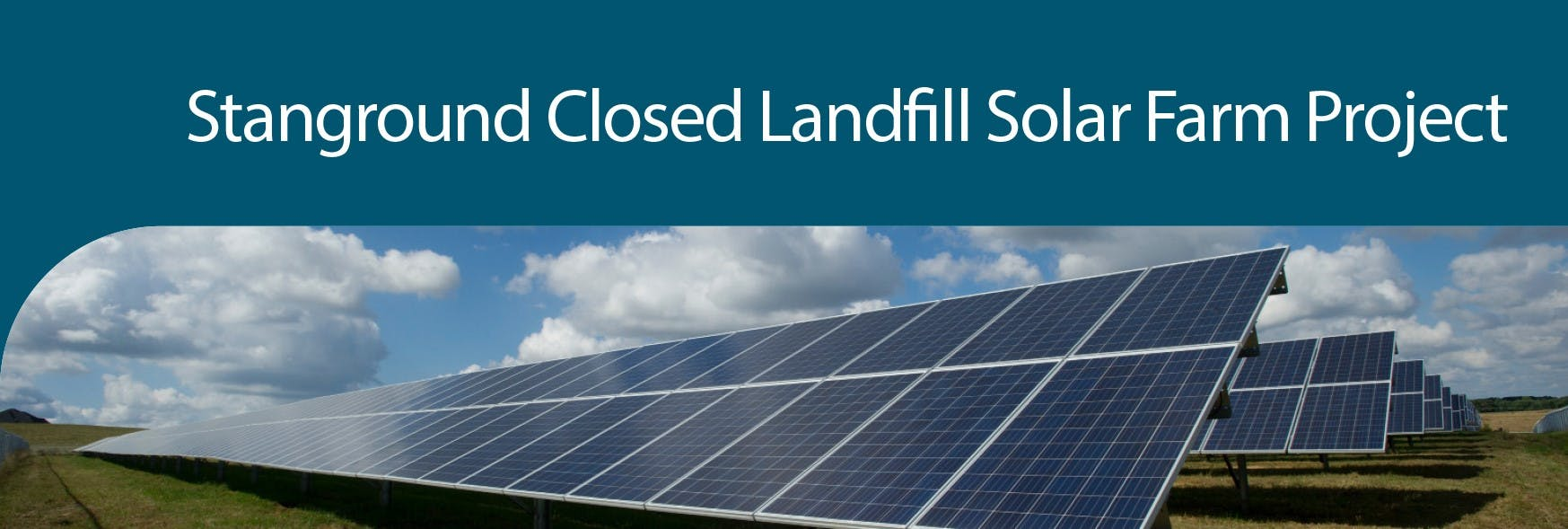 Representation of Stanground Closed Landfill Solar Farm Project