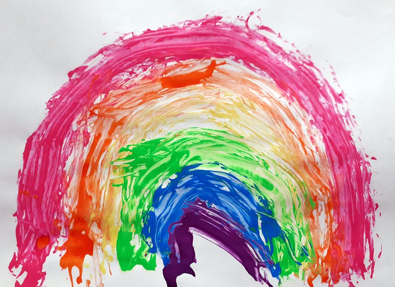 Rubber band rainbow