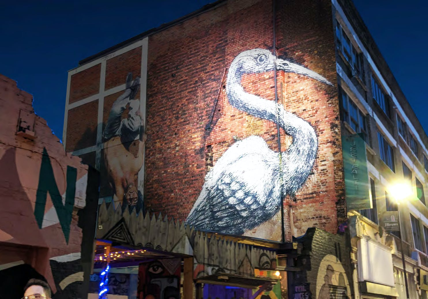 Improved lighting could be used to highlight landmarks including street art