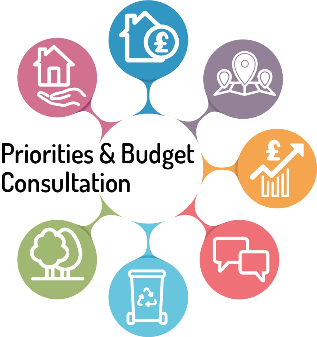 Priorities and Budget consultation logo