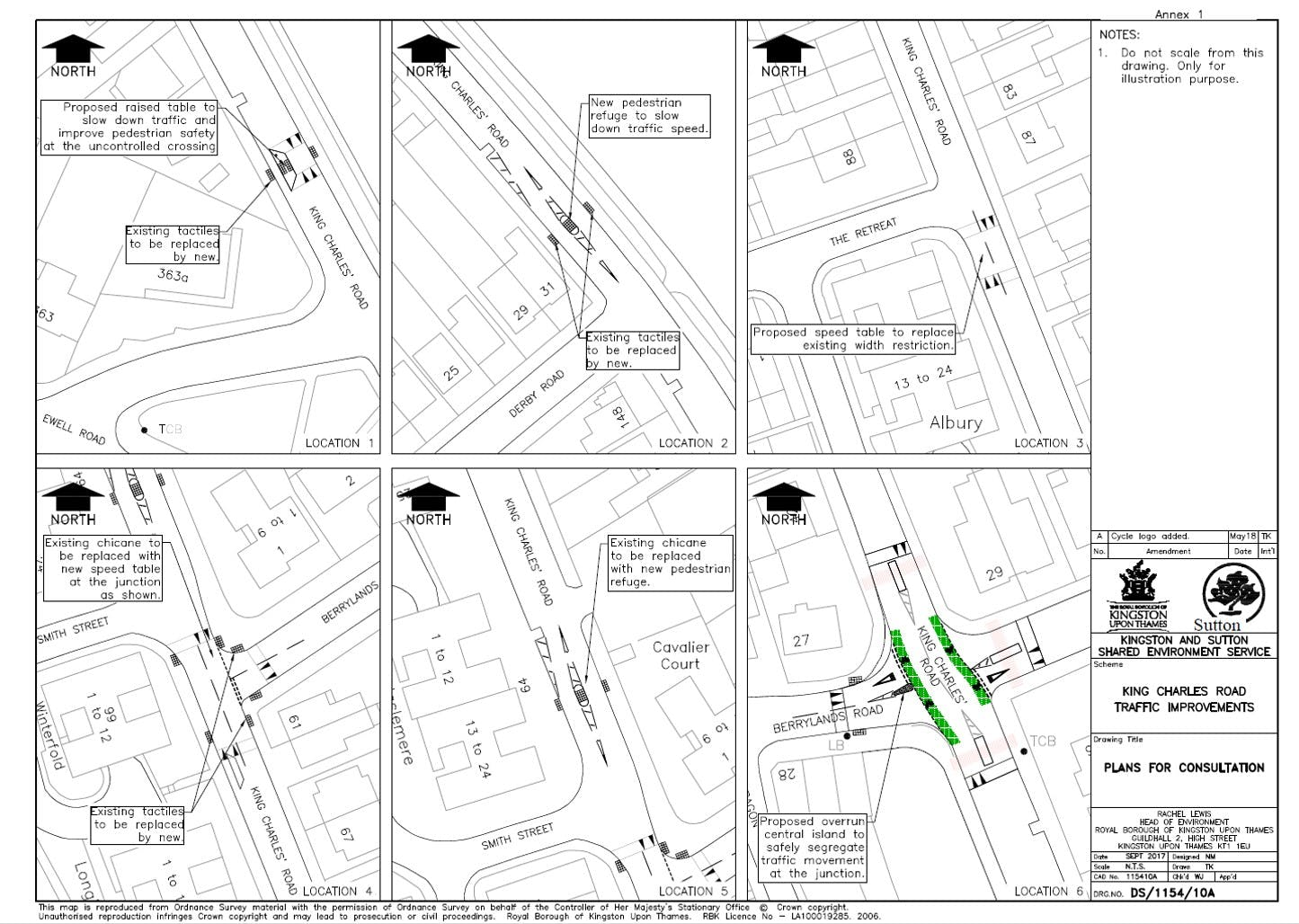 king Charles Rd - Proposed measures plan